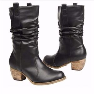"""New in Box! Wanted """"Draw"""" Black Cowbow Boots 9"""